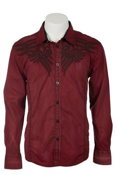 Roar® Men's Brick Arrow Embroidered Long Sleeve Western Shirt | Cavender's