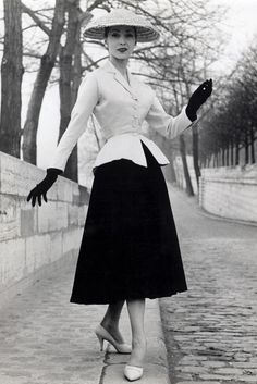 """Christian Dior's """"New Look"""" For His Debut Collection, 1947                                                                                                                                                                                 More"""