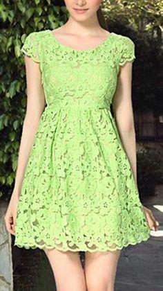 Green Summer Lace Dress ♥