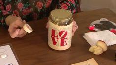 Decorative Ideas! DIY - Jars - Stencil - Gloss Enamels