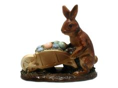 Easter Rabbit Vintage Ceramic Holiday Figurine Collectible SOLD
