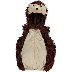 Brown Hooded Hedgehog Costume