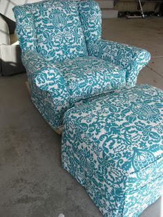 Custom Slipcovers by Shelley: Upholstered Rocking Chair (Pottery Barn)
