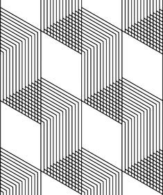 Inspired by the clean lines and traditional pattern of herringbone tiles. A tile wallpaper perfectly suited for achieving the modern Scandinavian design. Black And White Wallpaper, Black And White Lines, Black And White Aesthetic, Black And White Design, Line Design Pattern, Geometric Pattern Design, Geometric Art, Modern Wallpaper, Designer Wallpaper