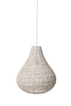 Cable drop white pendant lamp