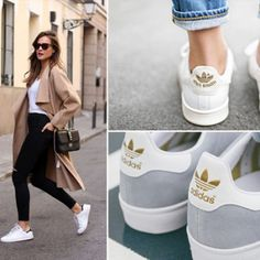 The Stan Smith is the sneaker of the season, and every cool girl with their finger on the trainer pulse has adopted the minimal style as their practical/chic footwear of choice.