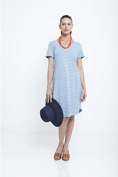Stripe T-Shirt Summer Dress