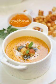 Pumpkin Cream soup with sage pesto