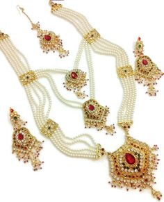 White & Multicolured #Necklace #jewellery Set  #craftshopsindia