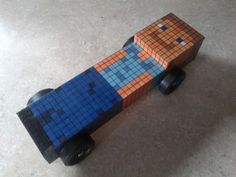 Pinewood derby car. Minecraft.  (Sky would LOVE this!)