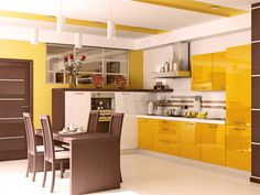 Kitchen Brown And Mustard Yellow Decor Kitchens