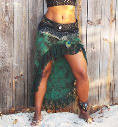 Tie Dye groen burleske rok van SigaTribal op Etsy