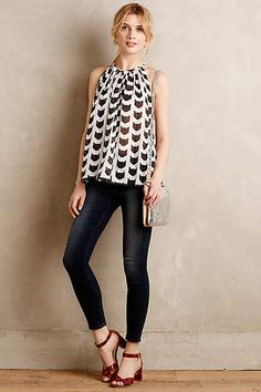 Graphic Cat Tunic - anthropologie.com