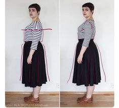 太っているからといって体のラインを隠す服を着るよりも体型や骨格に合った服を着た方が痩せて見える!「柄は一緒なのにフォルムでこうも違うとは」 - Togetter Chubby Fashion, Curvy Girl Fashion, Kawaii Fashion, Modest Fashion, Fashion Outfits, Womens Fashion, Big Size Fashion, Plus Size Fashion For Women, Fashion Looks