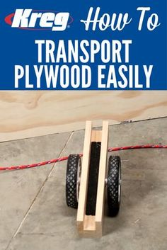 How To Carry Plywood Easily | Plywood sheets are big and awkward, which makes them tough to carry, especially by yourself. Here are a couple of handy carriers that you can create to make carrying plywood easy. Best of all, both are super simple to make.