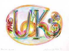 hand lettering from Ed Fella (How can you not be inspired by Ed Fella?)