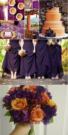 Plum Wedding - could use the color palate in a room...