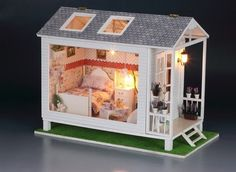 DIY Wooden Dollhouse Miniatures DIY Kits Loving The Coast of Cabin NEW GIFT