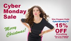 It's Cyber Monday!!! Take 15% off of your purchase!!!! Merry Christmas!!!
