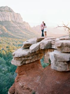 Sweet Sedona engagement session: http://www.stylemepretty.com/arizona-weddings/sedona/2016/02/11/magical-sedona-engagement-at-merry-go-round-rock/ | Photography: Melissa Jill - http://www.melissajill.com/