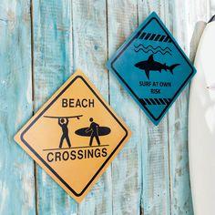 Set di 2 cartelli Surf