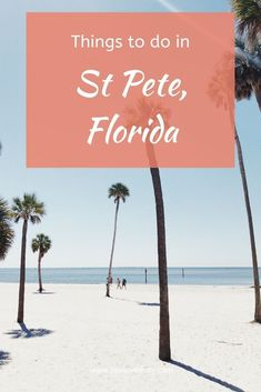 Things to do in St Petersburg, Florida. Discover our list with the best things to do in St Pete, Florida. Check out our ultimate guide for the perfect holidays in Florida. St Petes Beach Florida, Best Beach In Florida, Moving To Florida, Old Florida, Florida Vacation, Florida Travel, Florida Trips, Clearwater Florida, Sarasota Florida