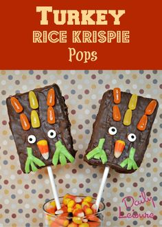 Turkey Rice Krispie Pops