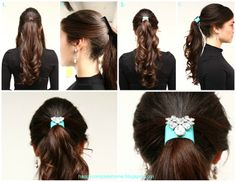 Happiness Does Complete a Home: DIY Hair Piece & 2 Elegant Ponytail Hairstyles