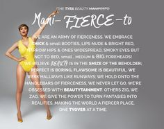 Manifesto.... Errr ManiFIERCEto!!! I could DEFINITELY live by this!!