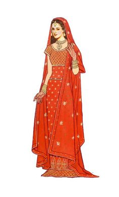 Bride of India_One of many digital paper dolls