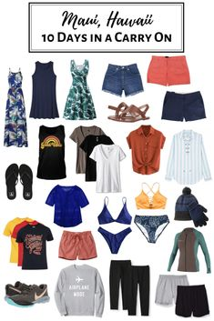 Maui, Hawaii Packing Guide: 10 Days in a Carry-On Hawaii Vacation Outfits, Maui Vacation, Outfits For Hawaii, Vegas Outfits, Honeymoon Outfits, Vacation Deals, Vacation Resorts, Maui Travel, Travel Tips