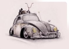 vw beetle tattoos - Google Search