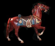 Daniel Muller is known as one of the finest of the great American carousel horse carvers. Horse Head, Horse Art, Carosel Horse, Horse Shop, Wooden Horse, Painted Pony, Merry Go Round, Equine Art, Golden Age