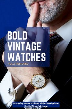 This cool and complicated wristwatch has a lot going on! And it is in great condition -- it keeps time, date, day, month, and the phase of the moon. Man Gifts, Man Cave Gifts, Best Presents For Men, Gifts For Dad, Just For Men, Mens Style Guide, Vintage Omega, Seiko Watches, Daily Deals
