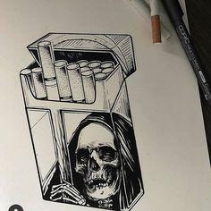 Risks when embroidering Russian Point: monograms to stick … – Graffiti World Dark Art Drawings, Tattoo Design Drawings, Pencil Art Drawings, Art Drawings Sketches, Tattoo Sketches, Art Sketches, Skull Drawings, Wie Zeichnet Man Graffiti, Art Du Croquis