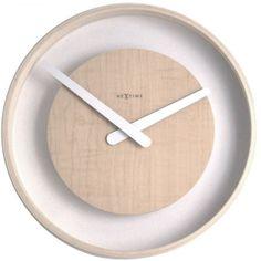 Wood Loop Wall Clock design by Nextime Unusual Clocks, Cool Clocks, Diy Clock, Clock Decor, Wall Clock Wooden, Wood Wall, Unique House Design, Wall Clock Design, Coral Walls