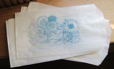 paris postmarks french market glassine sacks set by OkioBDesigns, $5.00