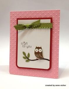 Pals Guest Stamper: Anne's Adorable Owl - Stampin' Up! Demonstrator - Mary Fish, Stampin' Pretty Blog, Stampin' Up! Card Ideas & Tutorials by katie