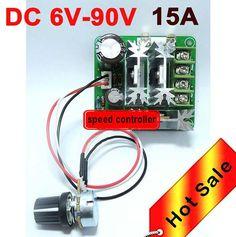 Poleless speed-adjusting DC motor controller general 6v-90v pwm dc motor speed controller plc 15a