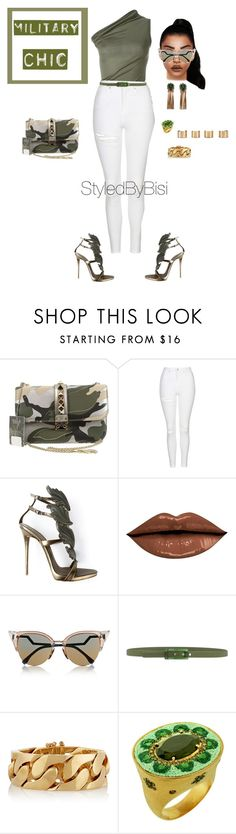 """Untitled #360"" by bisiekemode on Polyvore featuring Rick Owens, Valentino, Topshop, Giuseppe Zanotti, Fendi, Tie-Ups, Emilio Pucci, Le Sibille and Maison Margiela"