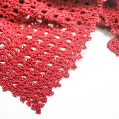 Lacy Shawl with Beaded Edging