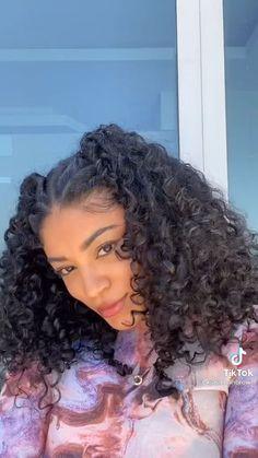 Hairdos For Curly Hair, Curly Hair Styles Easy, Curly Hair Care, Curly Girl, Cute Hairstyles, Natural Hair Styles, Short Hair Styles, Hairstyles For Curly Hair, Long Curly Hair