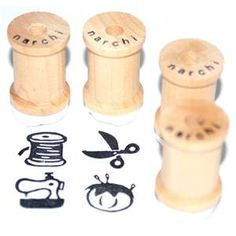 Stamps on spools! Nice :)