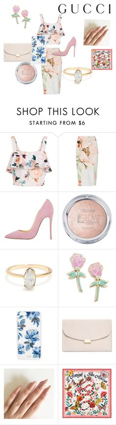 """""""Presenting the Gucci Garden Exclusive Collection: Contest Entry"""" by coolocean ❤ liked on Polyvore featuring Gucci, New Look, Big Bud Press, Sonix, Mansur Gavriel and gucci"""