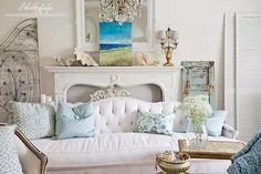Shabbyfufu: Five Minute Styling Tips With HomeGoods Pillows and Art