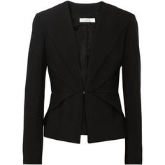 Versace Collection Wool-gabardine double-breasted blazer ($438) ❤ liked on Polyvore