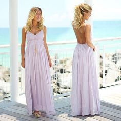 BACK IN LAVENDER! Your fave open back maxi has been restocked in this pretty color! Shop at savedbythedress.com
