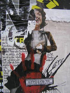Berlin torn poster