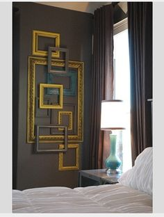 absolutely love this. could do in the study in a deep turquoise / metallic silver / white palette.