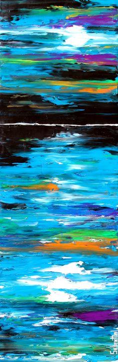 "Night Shade by Eric Siebenthal | $250 | 12""w x 36""h | Original Art | http://www.vangoart.co/eric-siebenthal/night-shade @VangoArt"